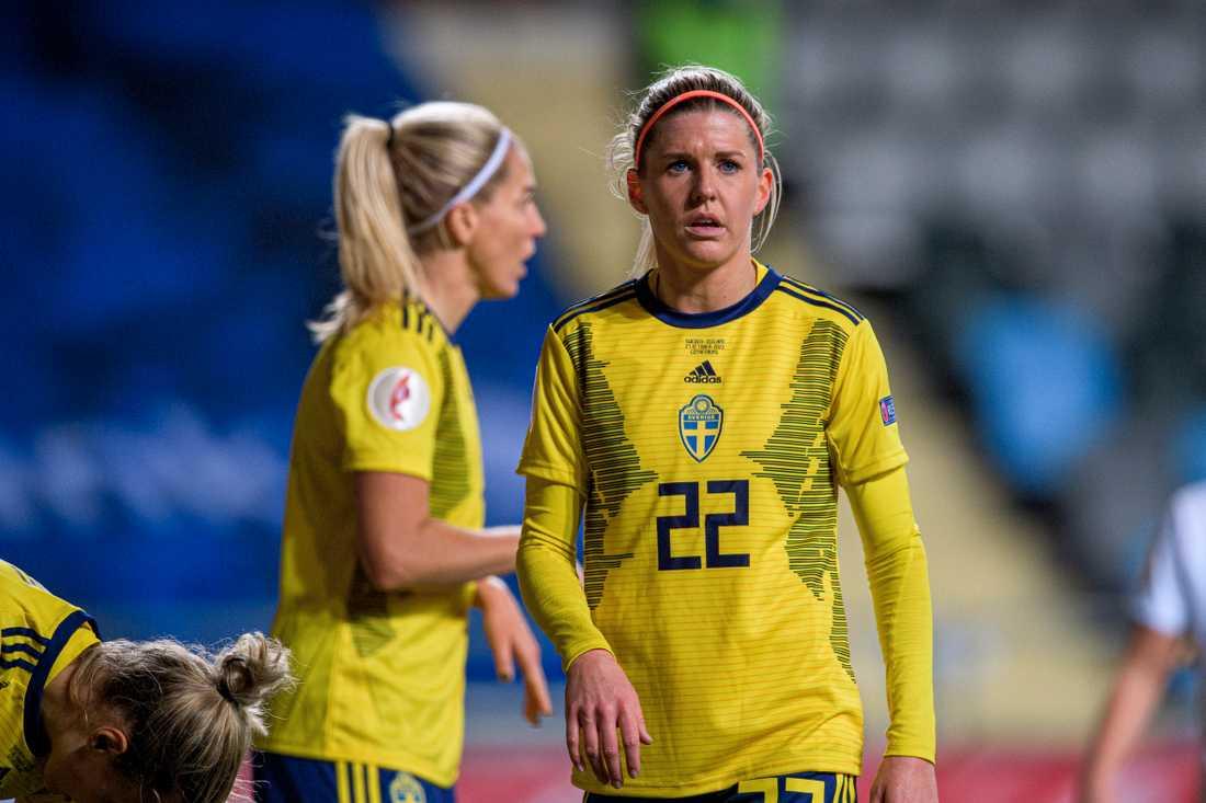 Olivia Schough gjorde ett drömmål mot Island.
