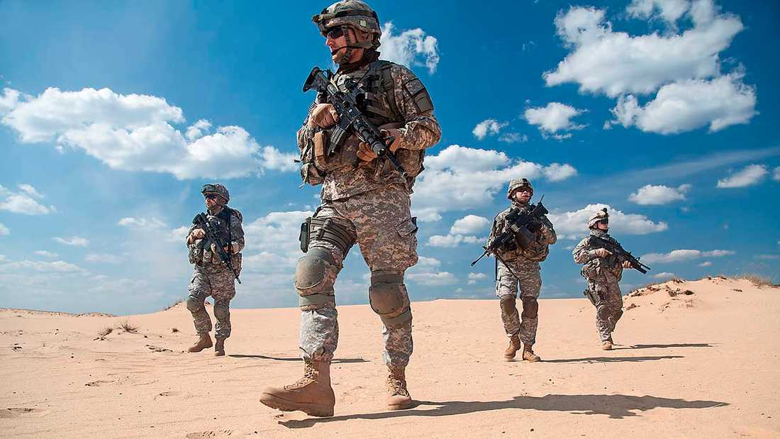Amerikanska Nato-soldater i Afghanistan. I dag är det 70 år sedan alliansen bildades.