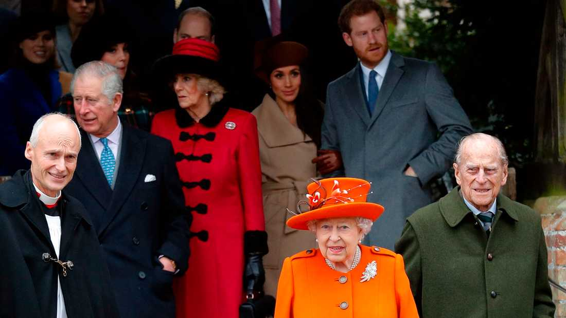Delar av brittiska kungahuset med drottning Elizabeth i spetsen.