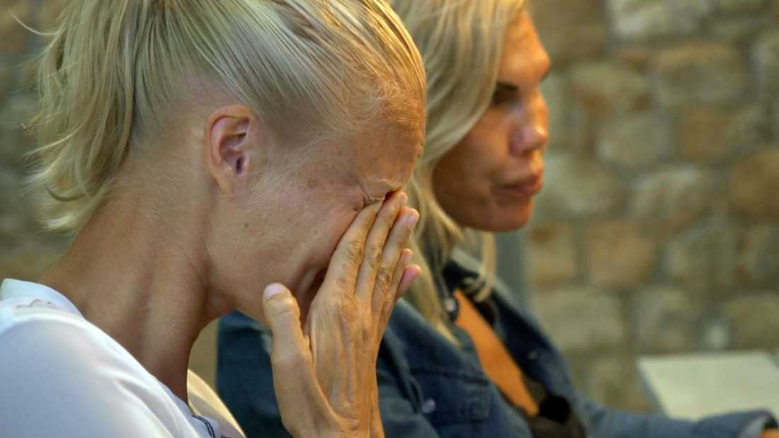 """Här bryter Carolina Klúft plötsligt ihop i tårar i """"Mästarnas mästare""""."""