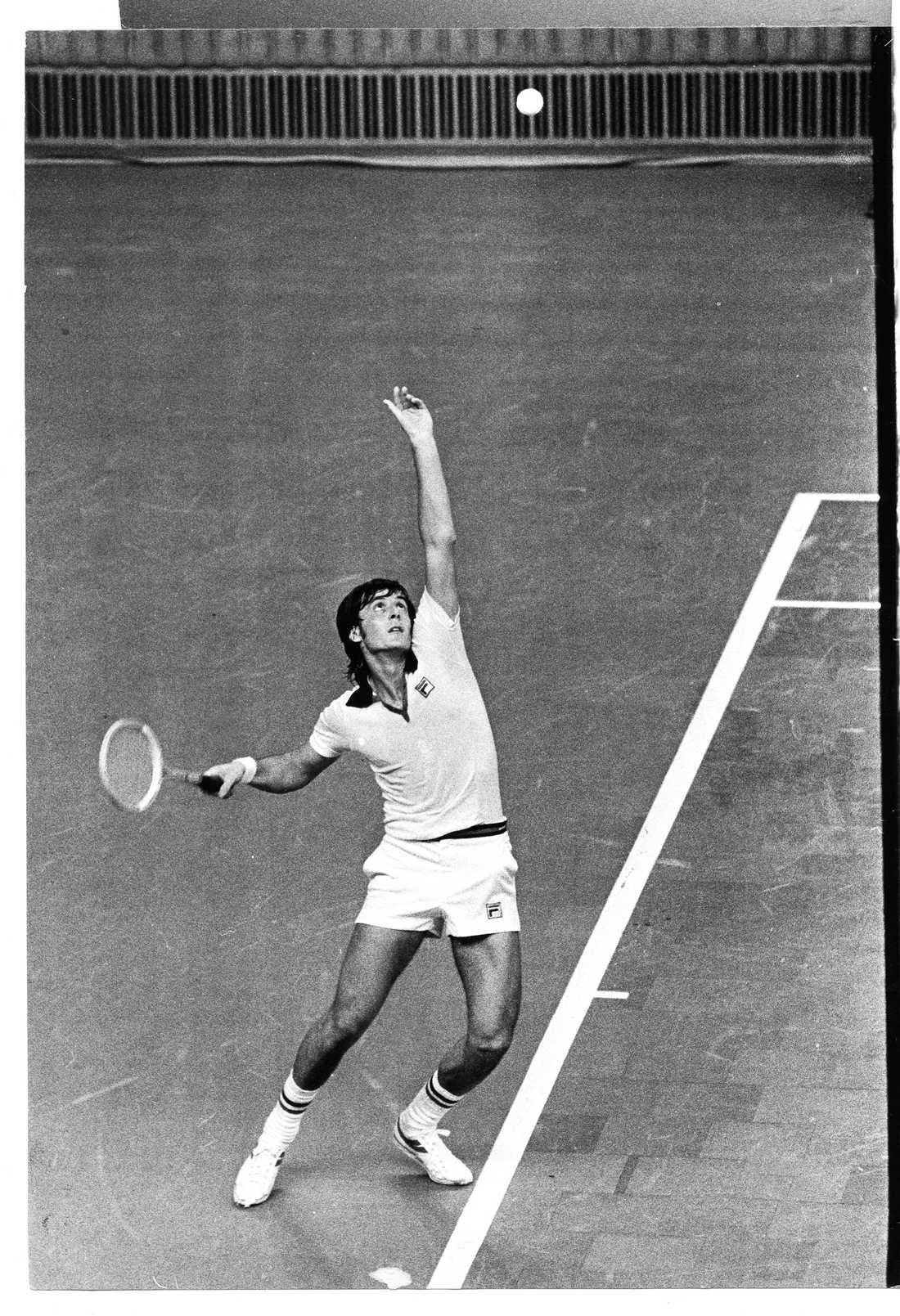 1976, Adriano Panatta (ITA) Vann mot Harold  Solomon (USA) med siffrorna 6-1, 6-4, 4-6, 7-6.