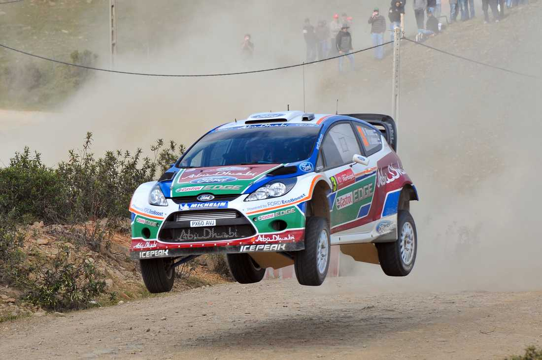 Mikko Hirvonen i Portugals VM-rally.