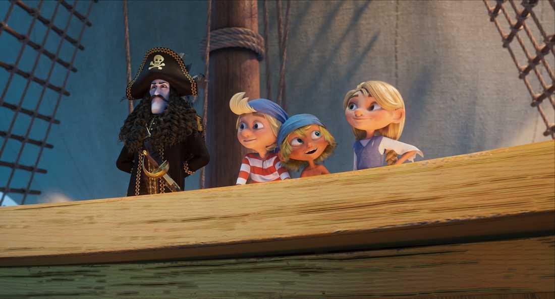 Piraten och de unga hjältarna.