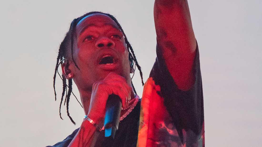 Travis Scott  på Lollapalooza i Stockholm förra helgen.