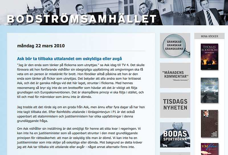 Thomas Bodströms blogg: Bodströmsamhället.