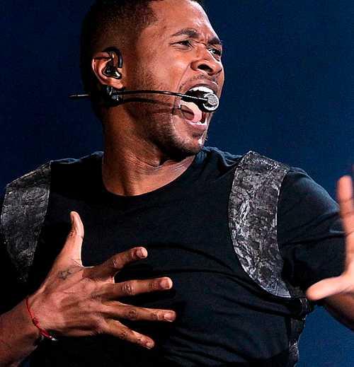 Usher på scen.