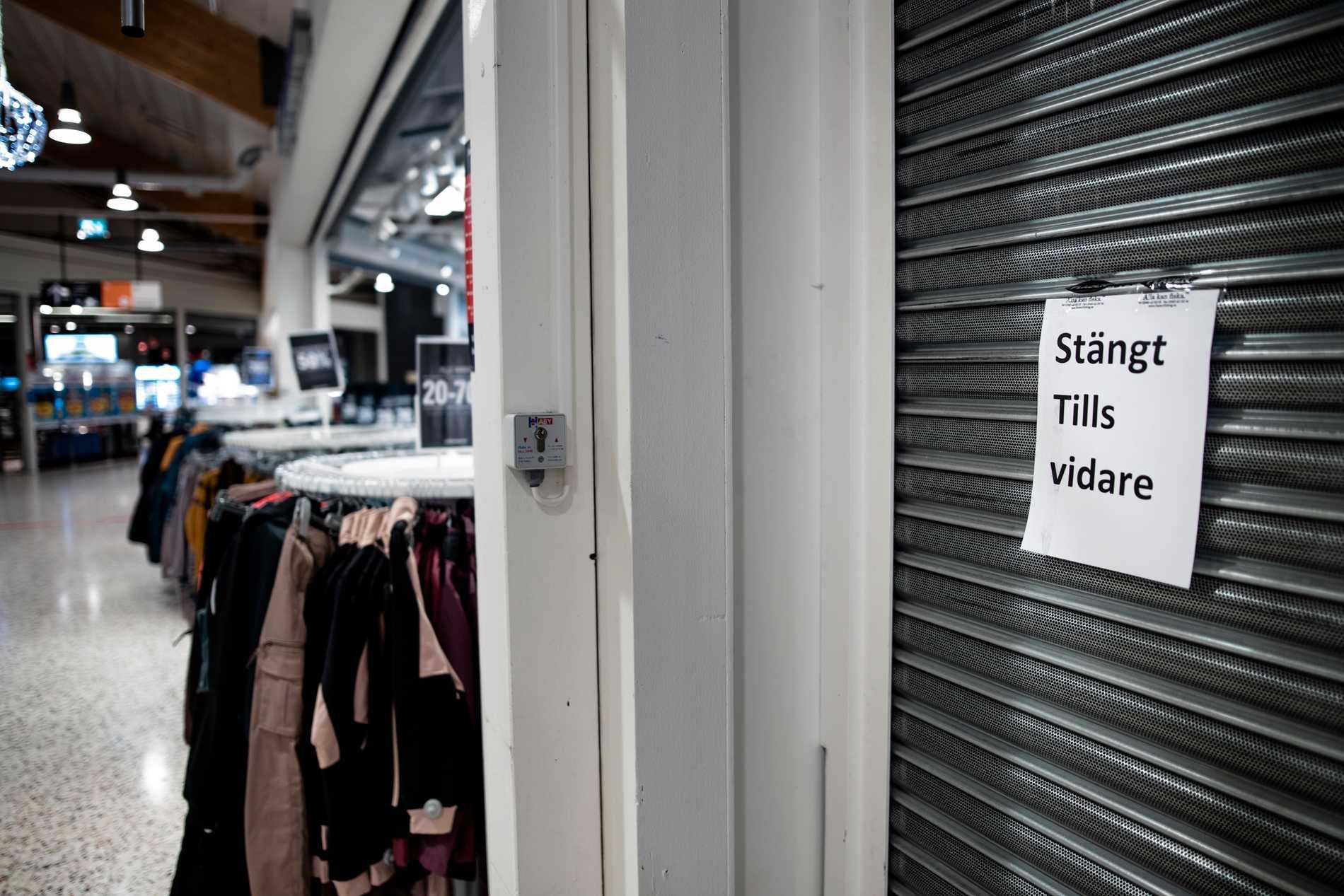 Flera av butikerna i Nordby Shoppingcenter har stängt igen under pandemin på grund av att de haft för lite kunder.