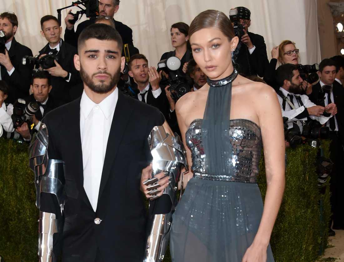 Zayn Malik och Gigi Hadid på gala i New York.