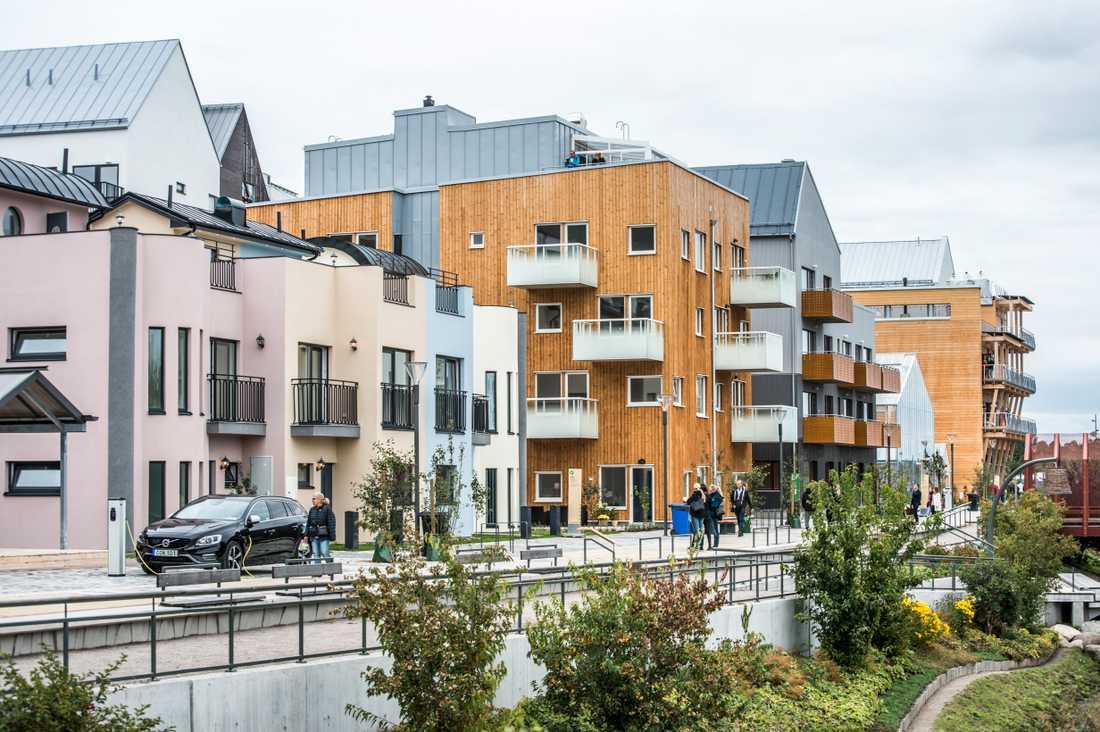 Nybyggnationerna är på de högsta nivåerna på 25 år. Arkivbild, Vallastaden i Linköping där det inte råder ett överflöd av lediga lägenheter.