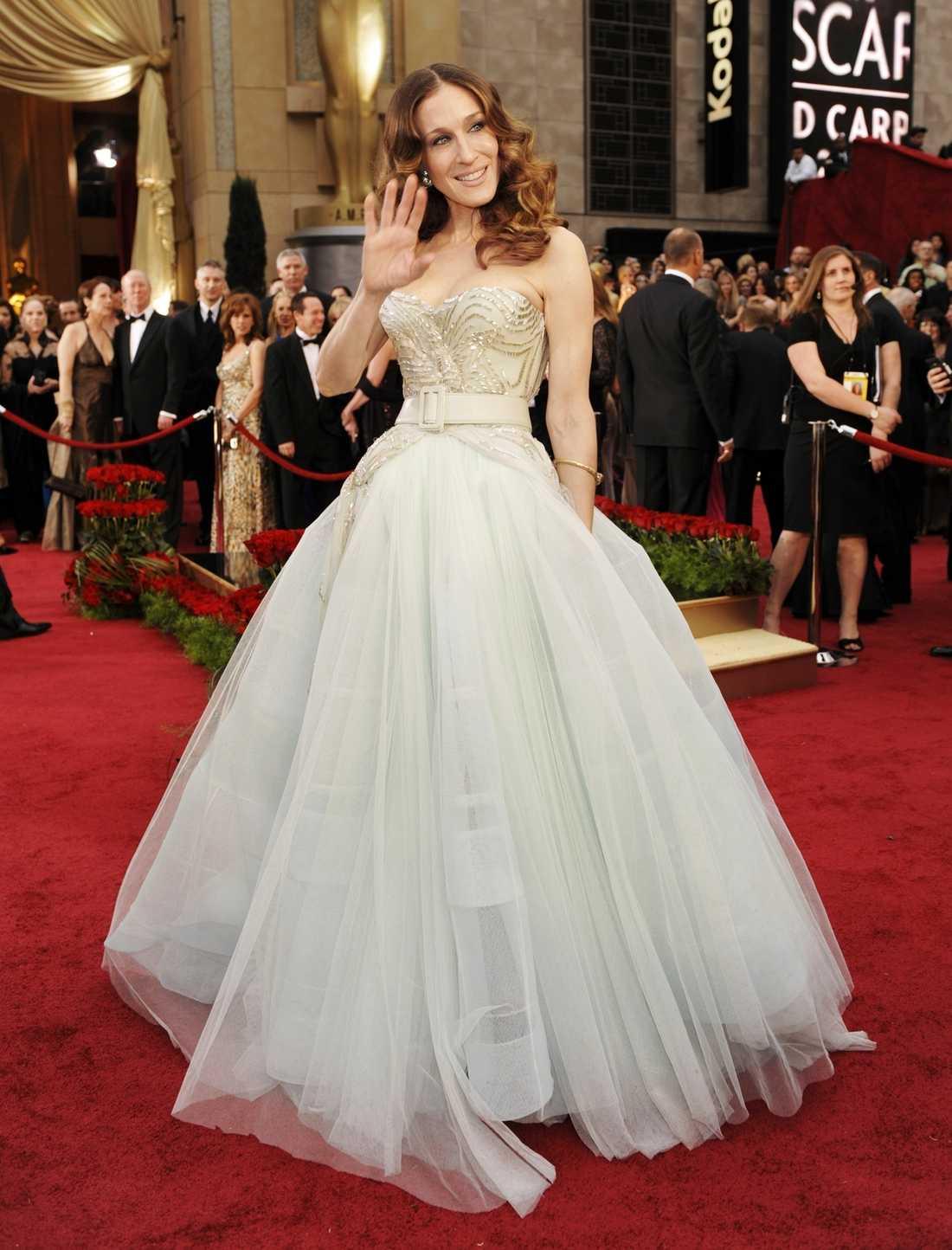 Bara axlar var den stora trenden på senaste Oscarsgalan. Skådisen Sarah Jessica Parker hakade på.