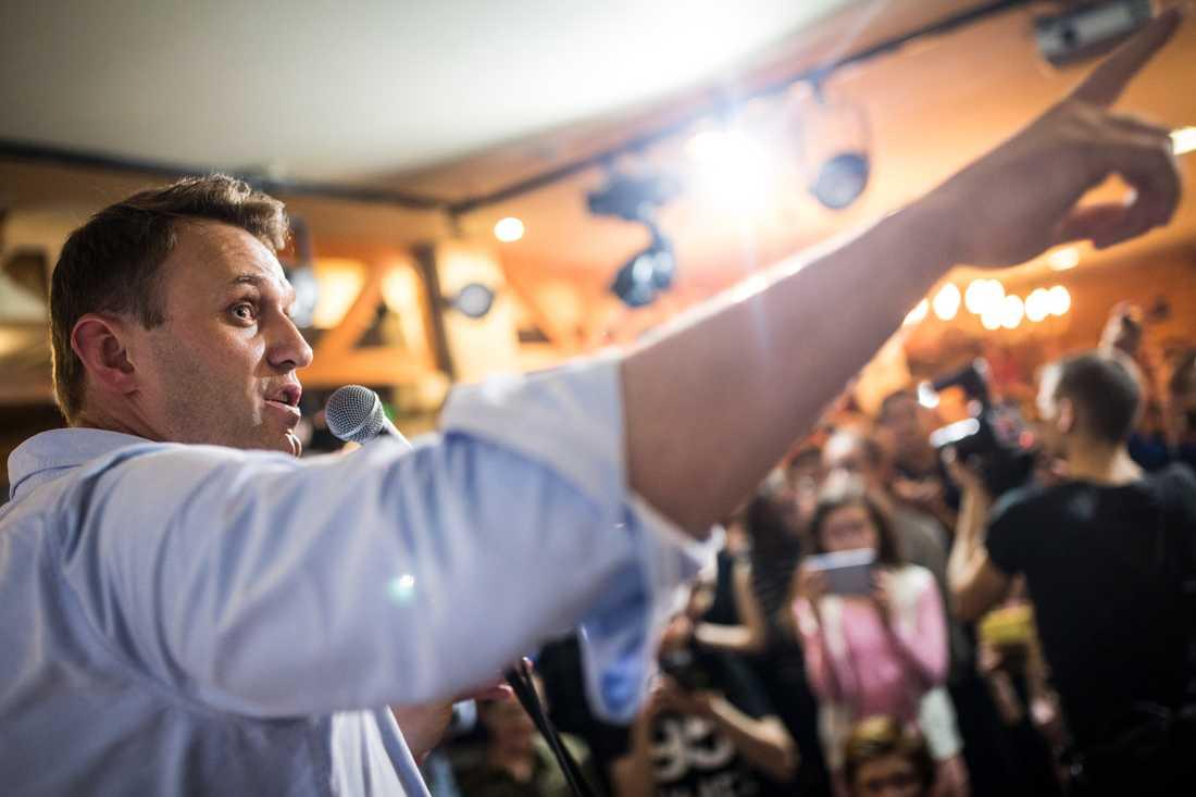 Navalnyj vid ett kampanjmöte i staden Perm i fredags, inför protesterna på den ryska nationaldagen.