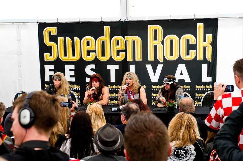 Presskonferens på Sweden Rock Festival 2012. Steel Panther.