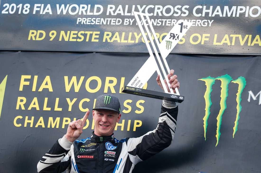 Åttonde VM-segern i rallycross  för Johan Kristoffersson år 2018.