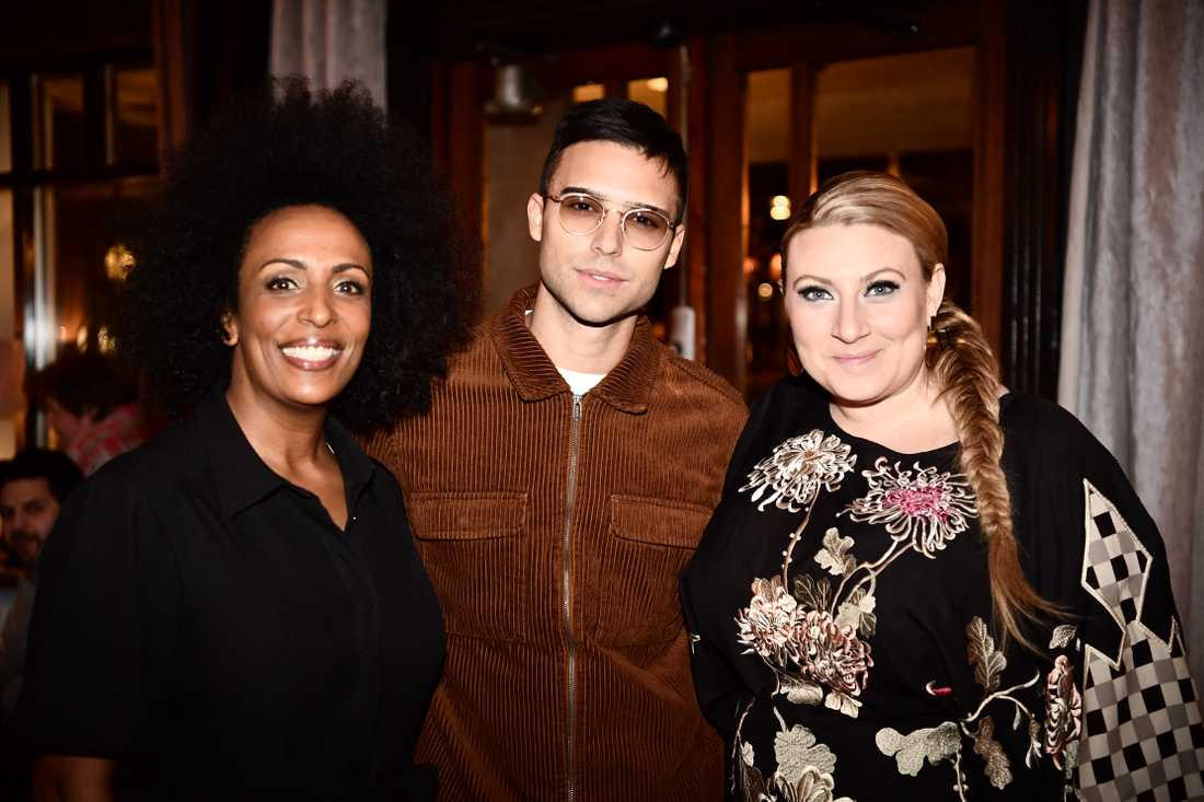 Marika Carlsson, Eric Saade och Sarah Dawn Finer.