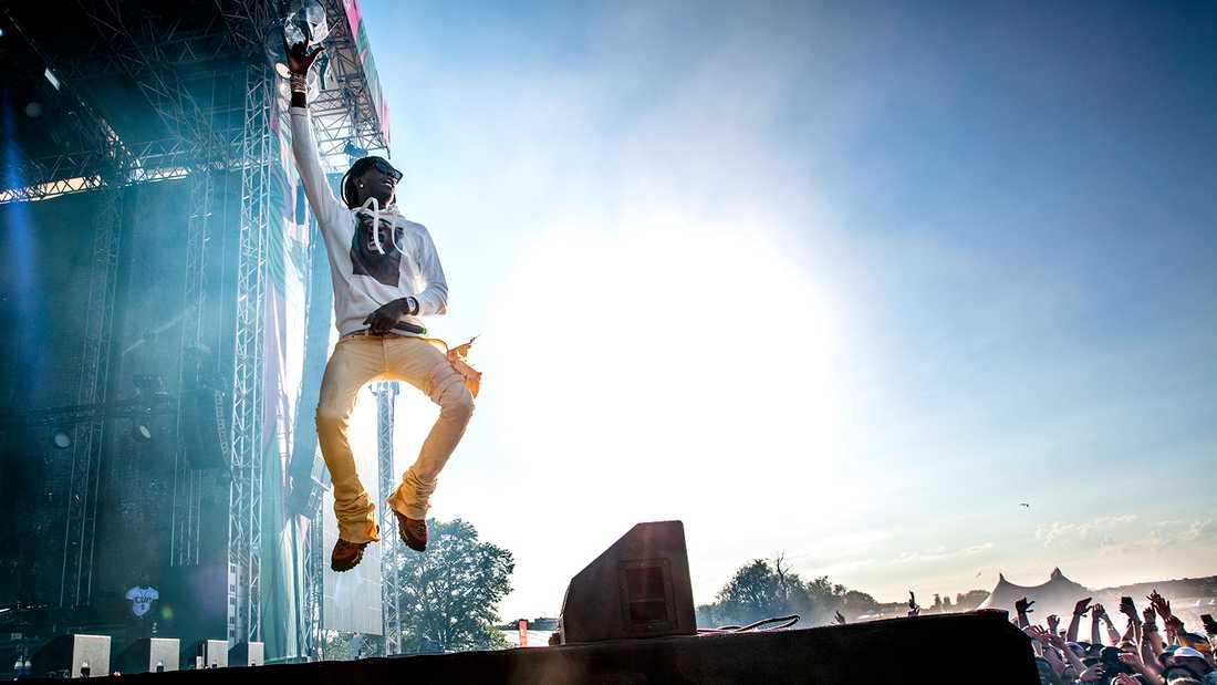 Young Thug på Lollapalooza i Stockholm.