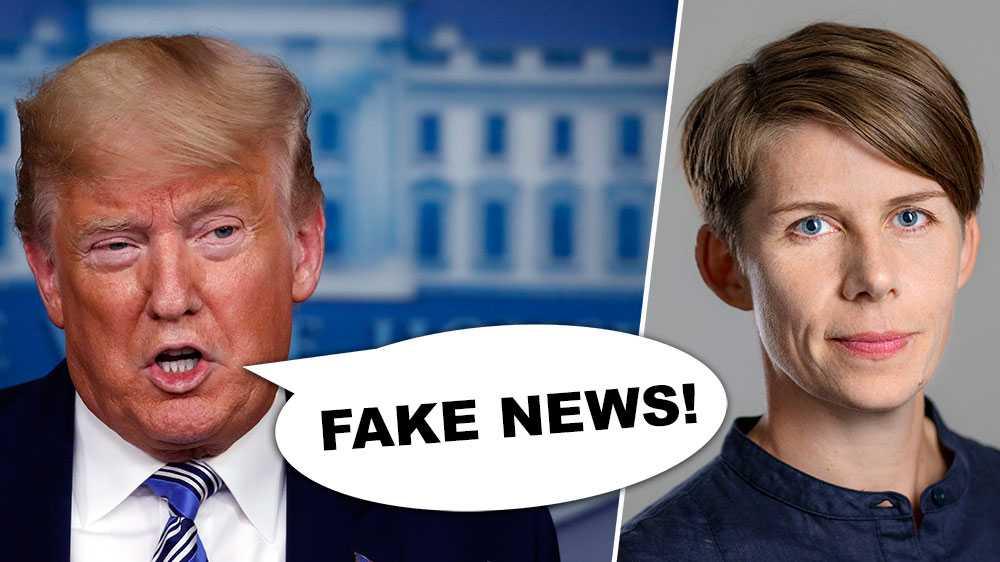 """På senare år har begreppet """"fake news"""" spridits inte minst av USA:s president Donald Trump. I vissa fall räcker det med att rapporteringen inte faller presidenten i smaken, för att det ska avfärdas som """"fake news"""". Det är en farlig utveckling, skriver Ulrika Hyllert, ordförande Journalistförbundet."""