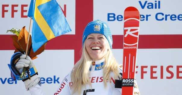 Jessica Lindell Vikarby tog VM-brons i storslalom 2015