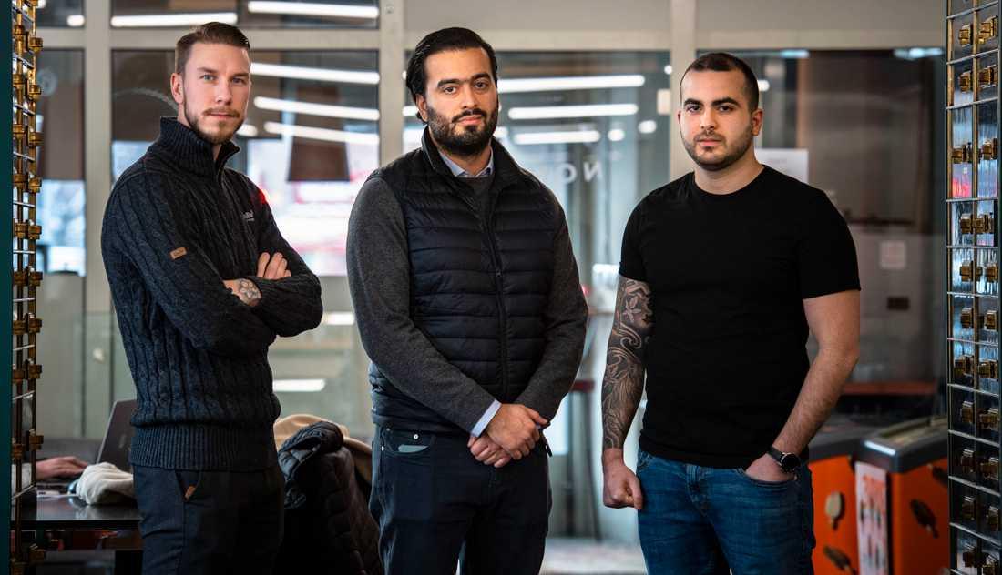 Thor Alm, Ali Keivandarian och Payam Golshani har startat ett avhopparprogram för kriminella, SAMsteget.