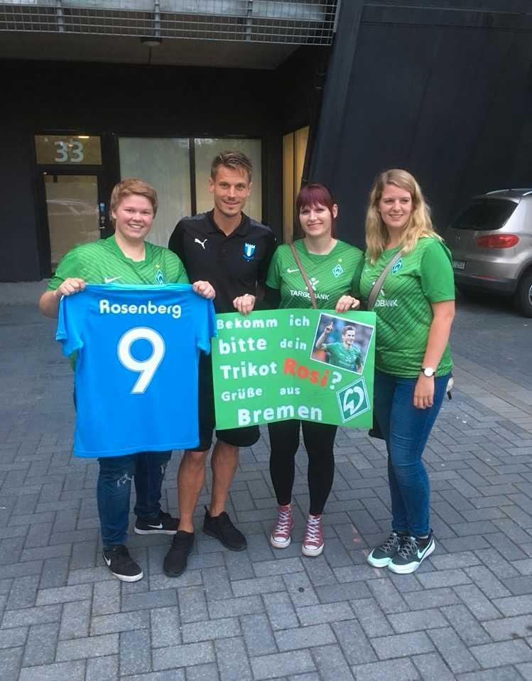 Markus Rosenberg med Werder Bremen-fansen.