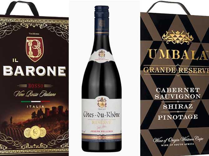 Rött vin: Bland de röda vinerna är det speciellt ett märke som sticker ut - Il Barone Rosso från Italien.