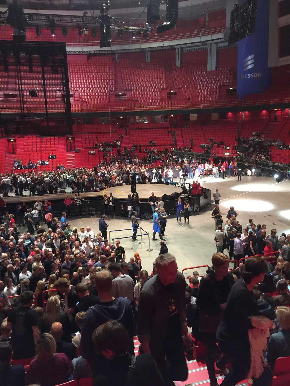 Finalarenan Globen i Stockholm.