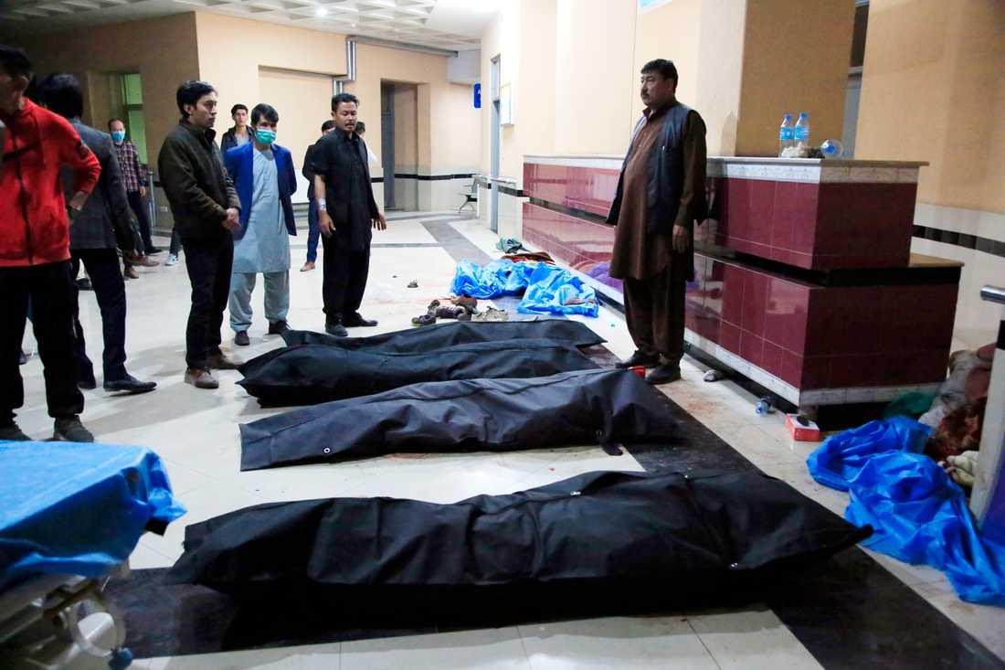 24 människor dödades i attacken i Kabul på lördagen.