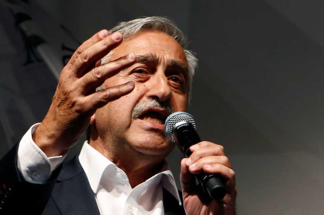 Mustafa Akinci är just nu president i den turkcypriotiska utbrytarregionen på Cypern.