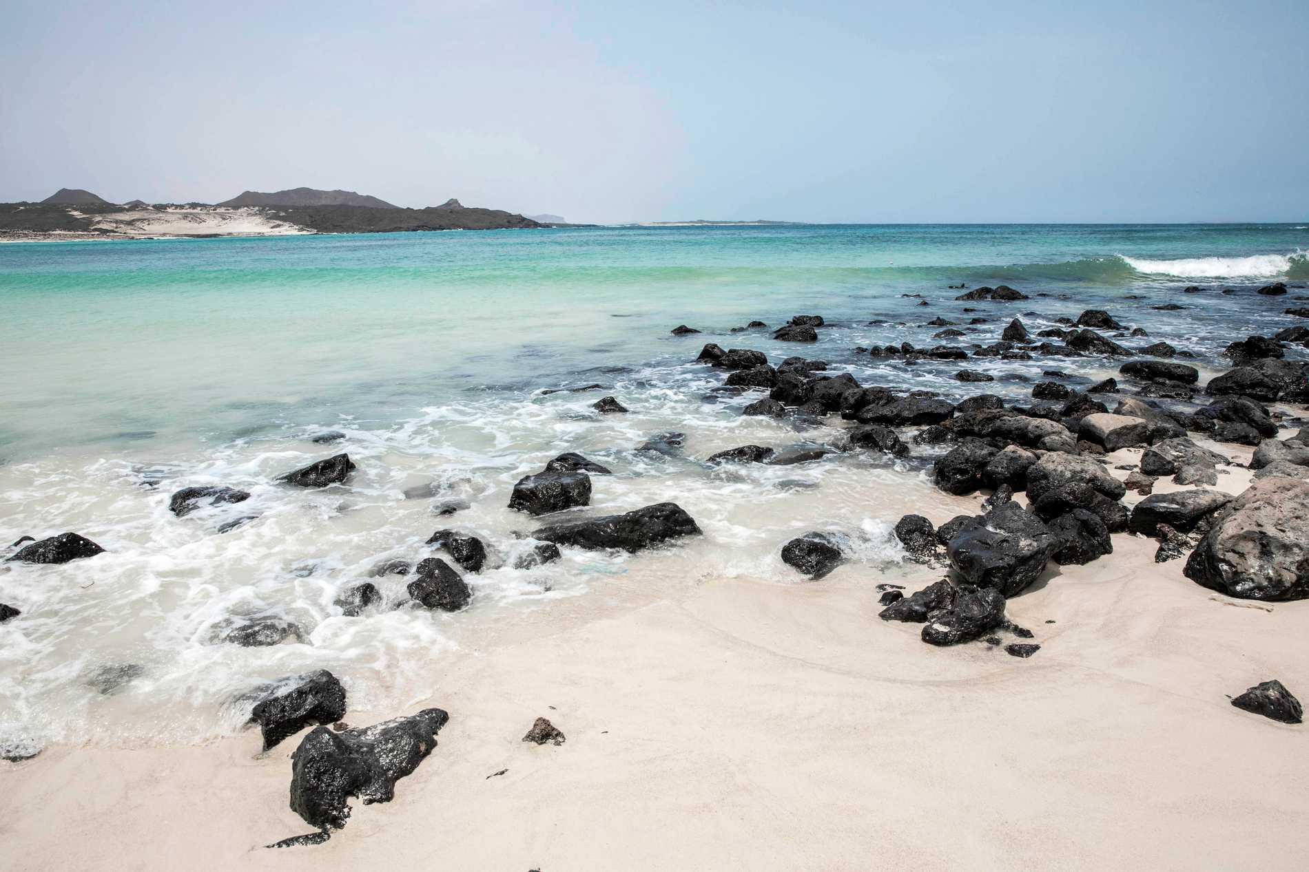 En strand i Jemen. Arkivbild.