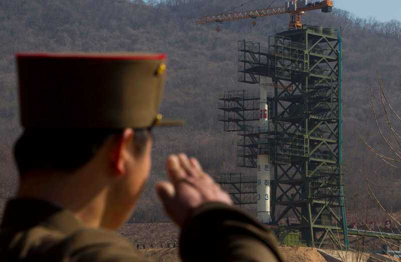 Nordkoreansk raketuppskjutning.
