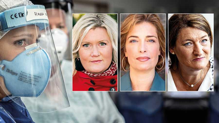 Kvinnorna som fått samhället att rulla genom krisen ska inte betala det högsta priset. Därför måste de extra pengar som går till kommuner och regioner användas till att stärka välfärden och förbättra förhållandena för de kvinnor som arbetar där, skriver Lena Rådström Baastad, Annika Strandhäll och Susanna Gideonsson.