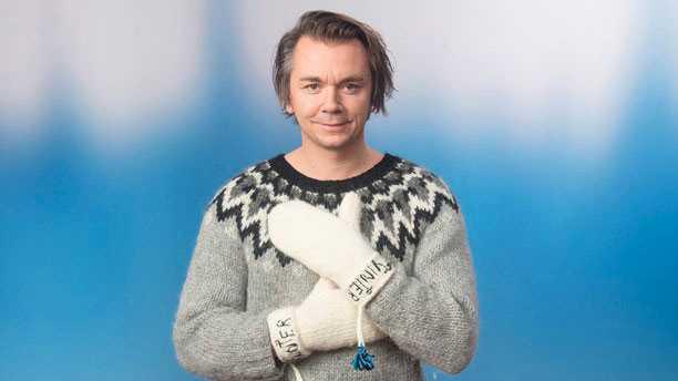 Emil Jensen, artist och poet, vinterpratade i Sveriges radio.