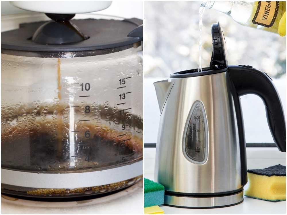 Kaffebryggaren och vattenkokaren behöver avkalkas.