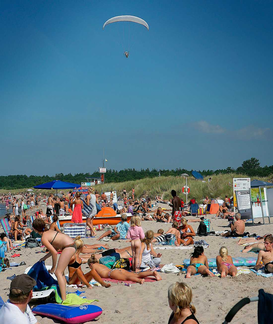 Tofta hör till de mest populära stränderna i Sverige.