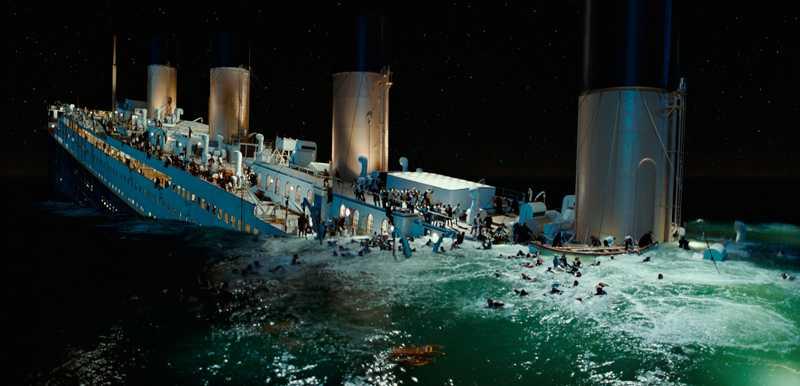 """1517 omkom  Den moderna tekniken fick skulden för oceanångaren Titanics undergång. Men i verkligheten orsakades katastrofen av bristande brittiskt sjömanskap, skriver Jan Guillou. Bilden från filmen """"Titanic"""" från 1997. Foto: paramount/ scanpix"""