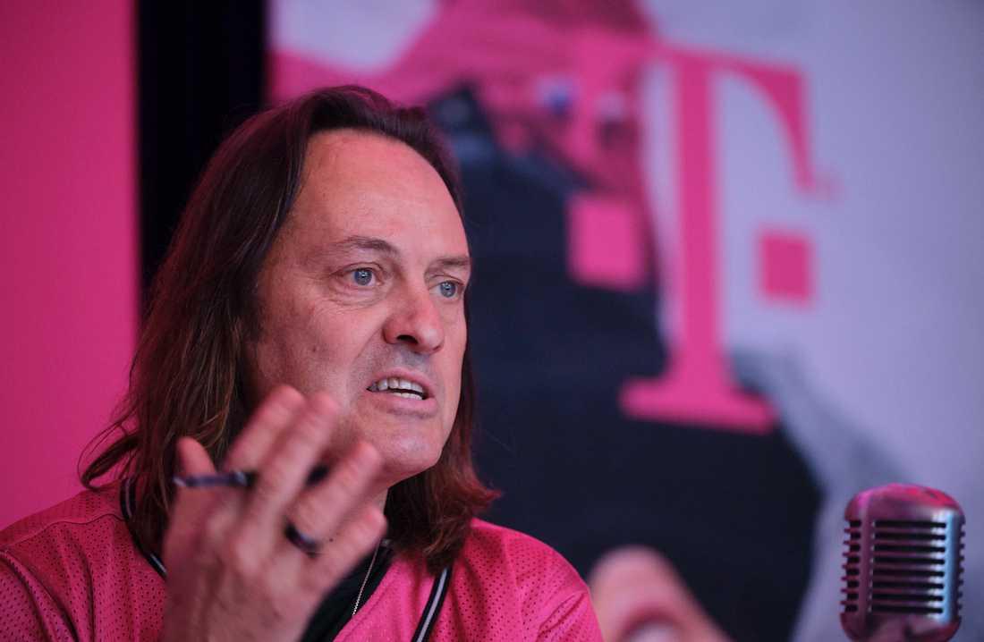 John Legere, är vd för T-Mobile. Arkivbild.