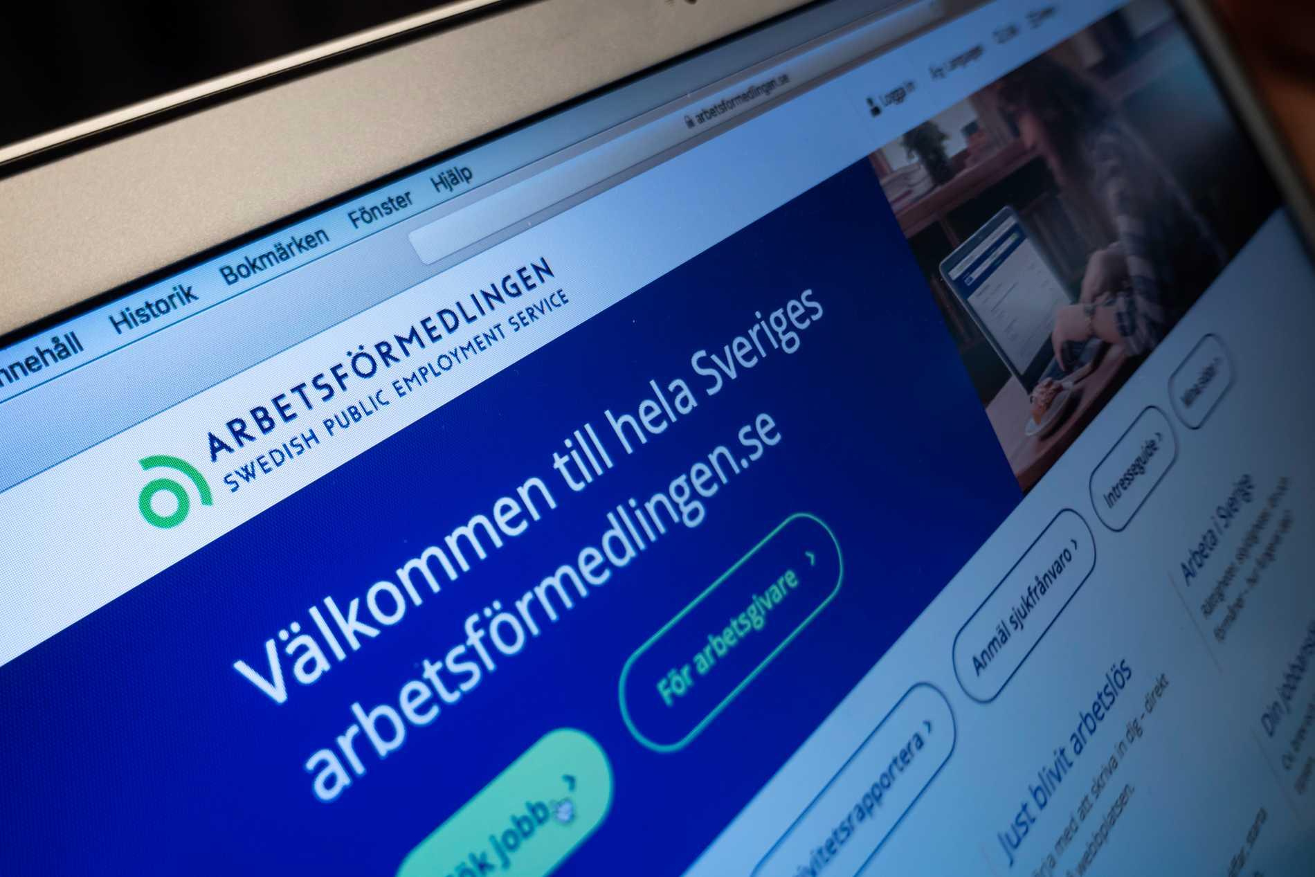 Arbetsförmedlningens sajt. Arkivbild.