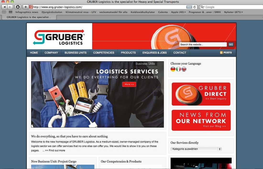 Den riktiga Gruber-sajten.