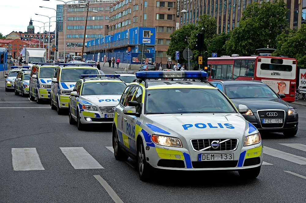 Polisaktionen i Stockholm.