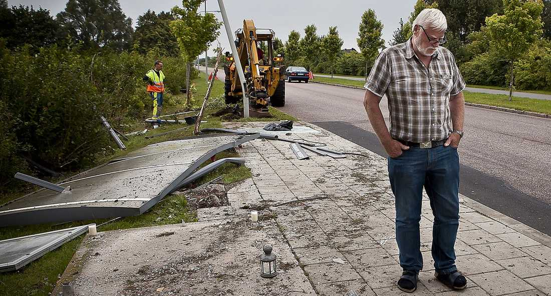 """offrets bror Ove Hansens bror Kurt är inte förvånad att fyra kriminella ungdomar mejade ner någon i just Landskrona. """"Vill inte med ord uttrycka vad jag känner för dem som dödade min bror"""", säger han."""