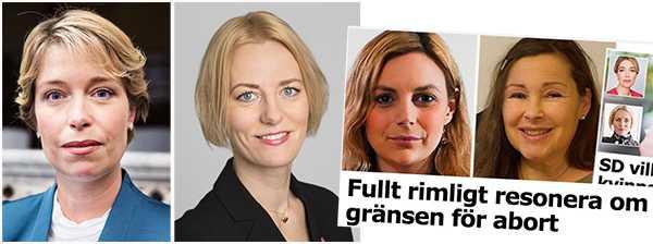 Annika Strandhäll och Erika Ullberg: SD duckar helt frågan om kvinnors rätt till sin egen kropp.