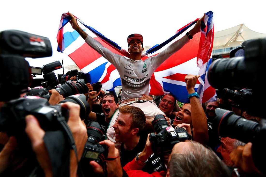 """Säkrade världsmästartitelnLewis Hamilton vann USA:s GP och säkrade sin tredje VM-titel. """"Jag kan inte hitta rätt ord för att beskriva det. Det är en så otrolig känsla."""""""