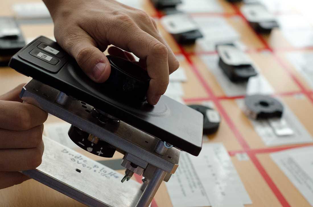 Prototyper som har används för att undersöka användbarheten hos olika växelsystem i projektet Life on board.