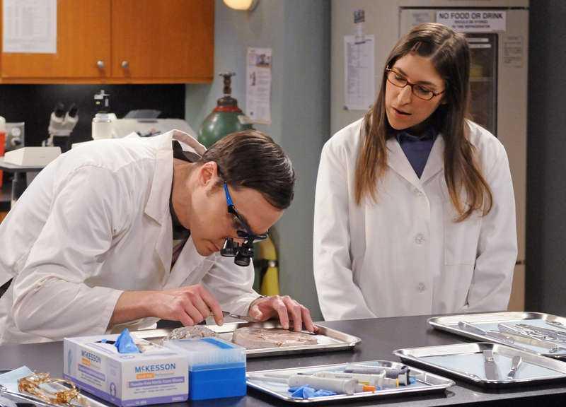 Jim Parson, till vänster, spelar den omåttligt populära karaktären Sheldon Cooper.
