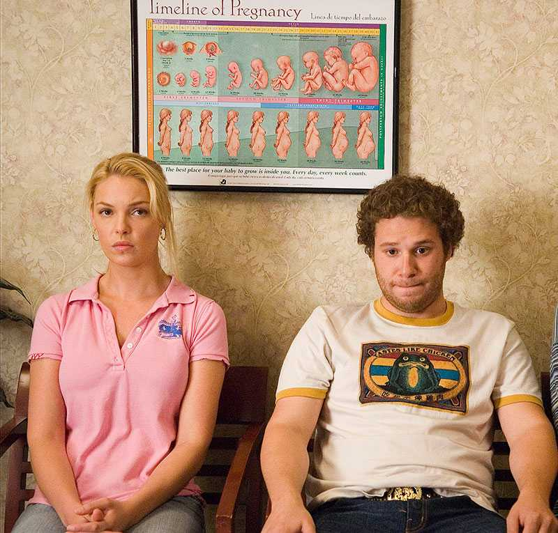 """Katherine Heigl i """"På smällen"""" från 2007 där hon spelar mot Seth Rogen."""
