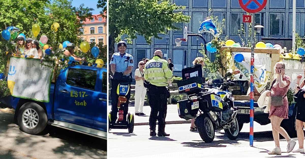 Trotsade flakförbudet – stoppades av polisen