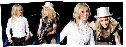 Britney Spears och Madonna på scenen tillsammans igen.