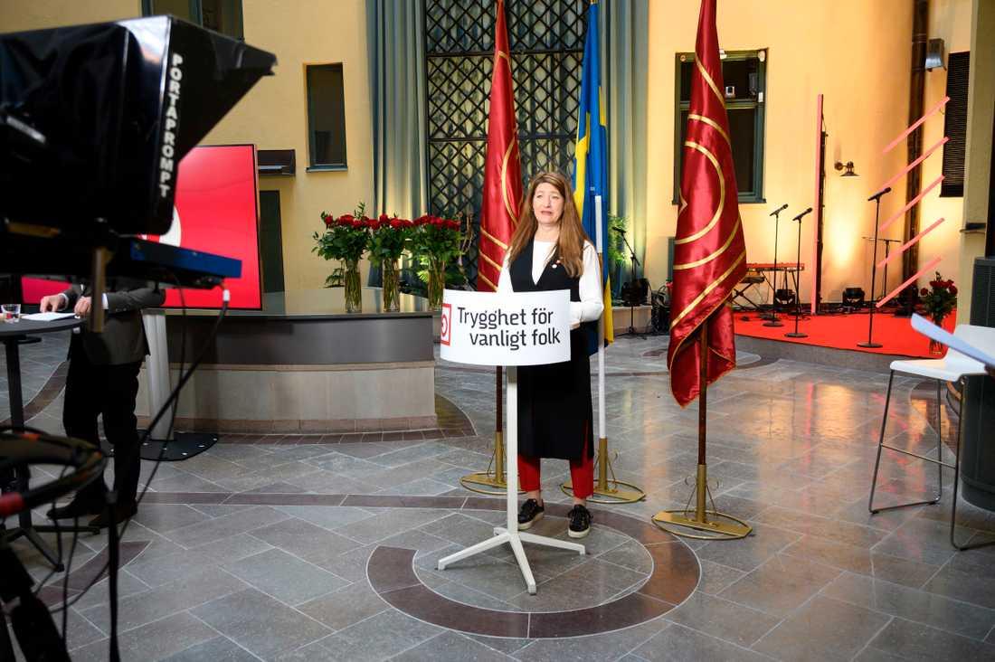 Susanna Gideonsson talade om pensionärernas villkor.