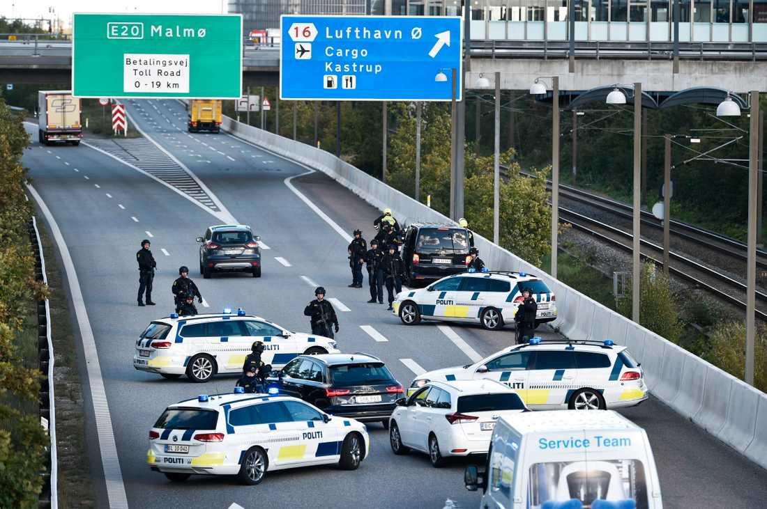 Dansk polis genomförde en omfattande polisinsats i slutet av september.