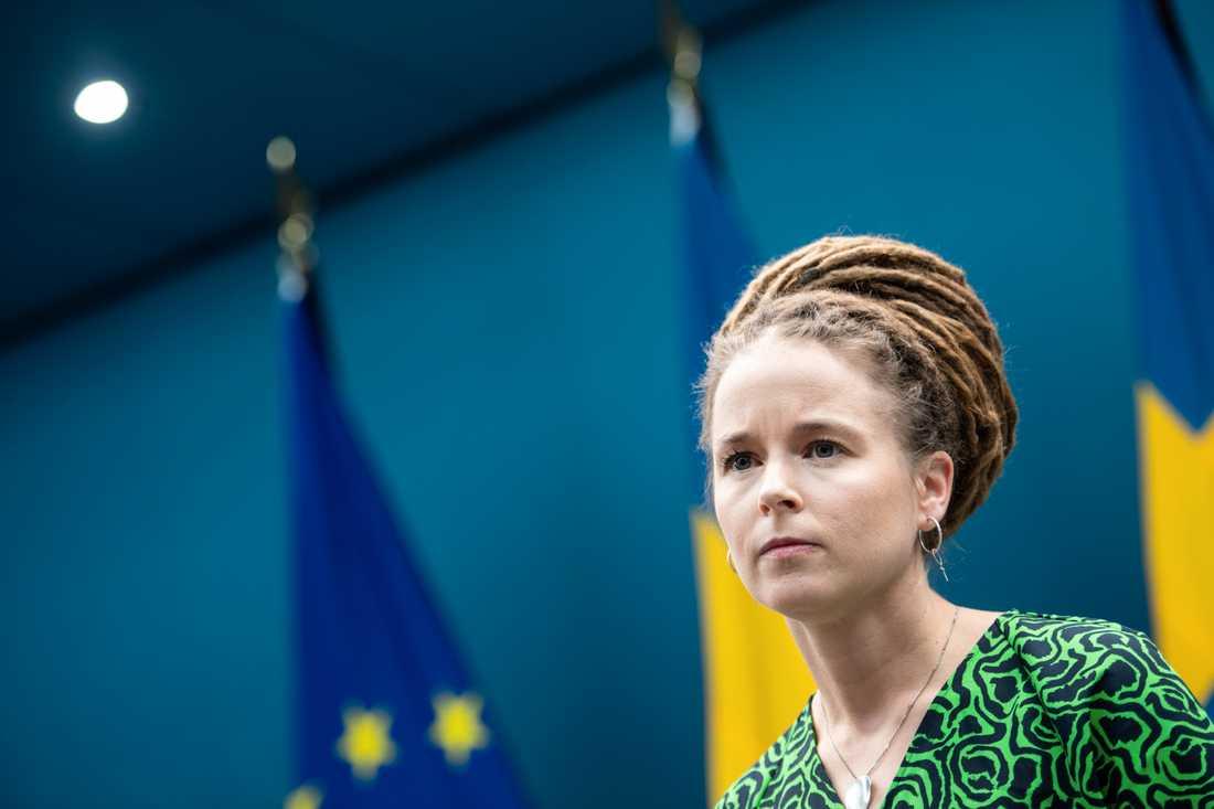 Kultur- och demokratiminister Amanda Lind (MP). Arkivbild.