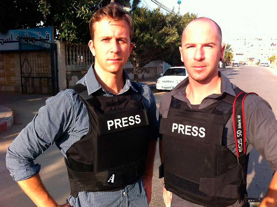 Aftonbladets Erik Wiman och Magnus Wennman på plats i Gaza City.